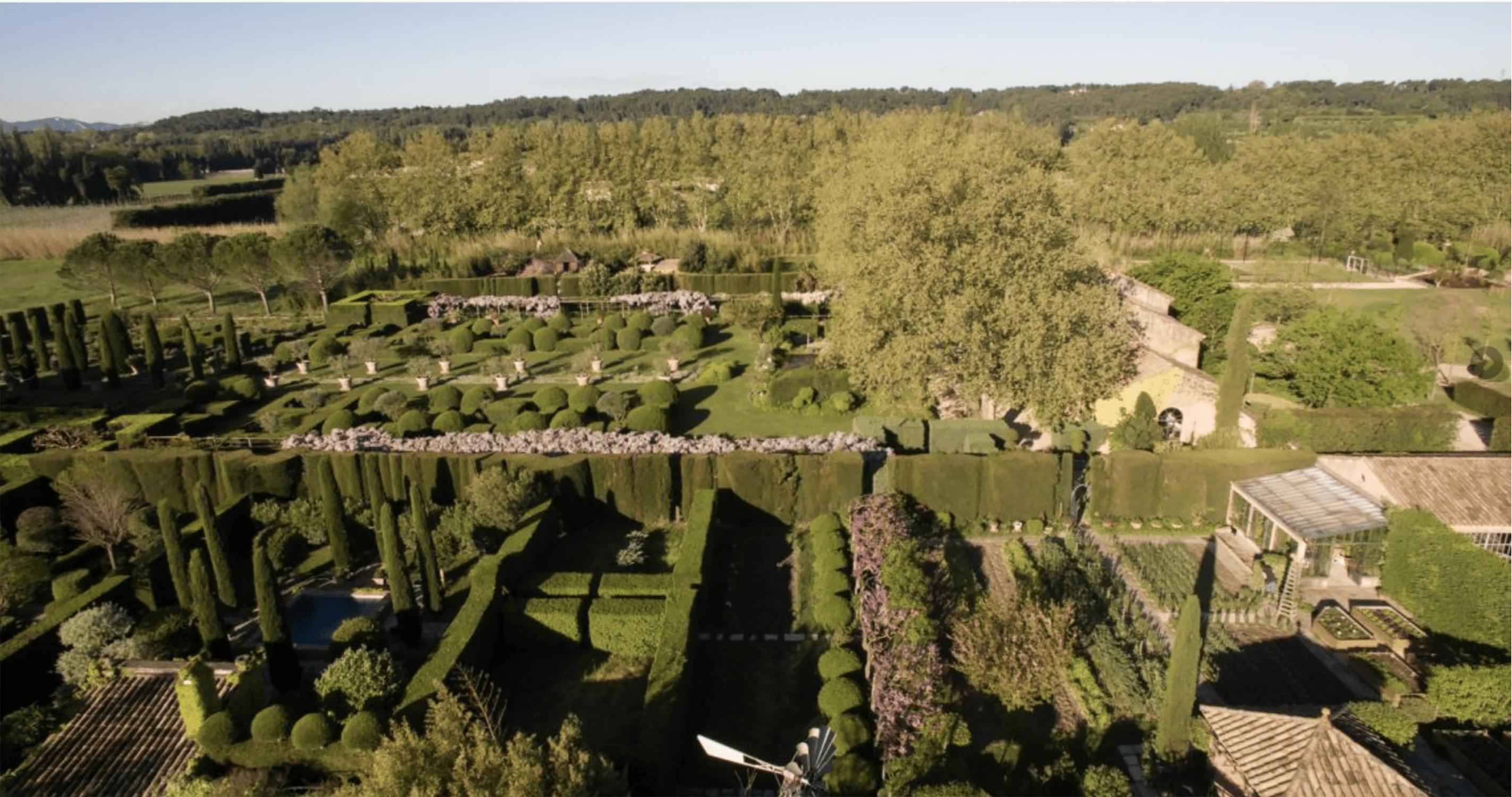 Les Confines Garden Aerial View
