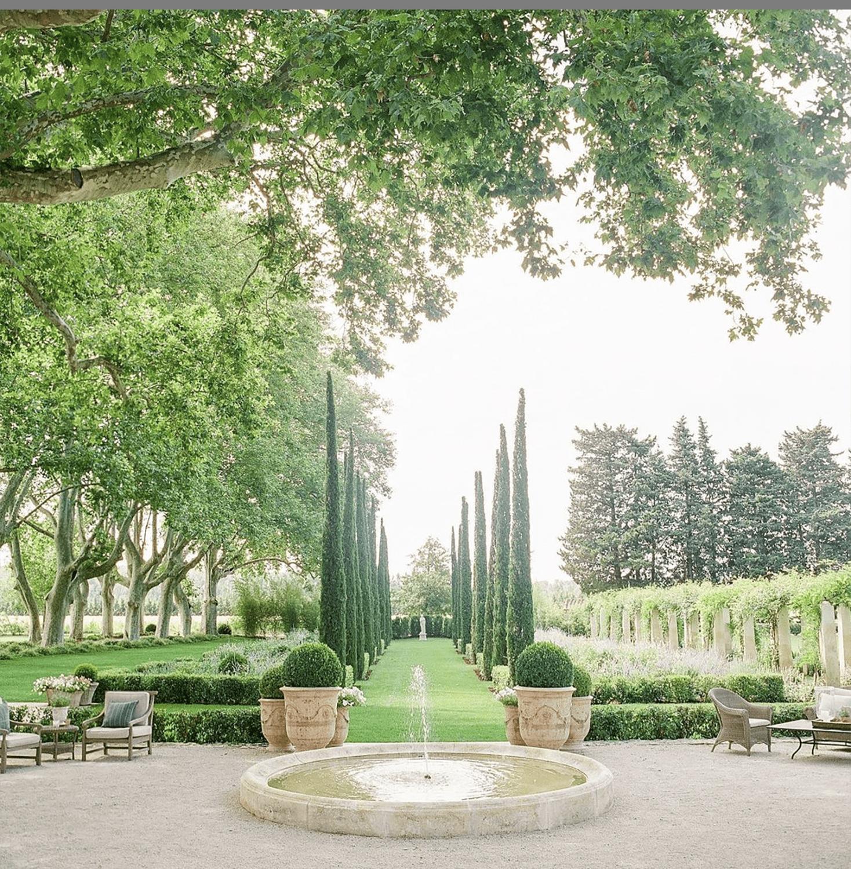 the garden at les mas de Poiriers by dominique lafourcade