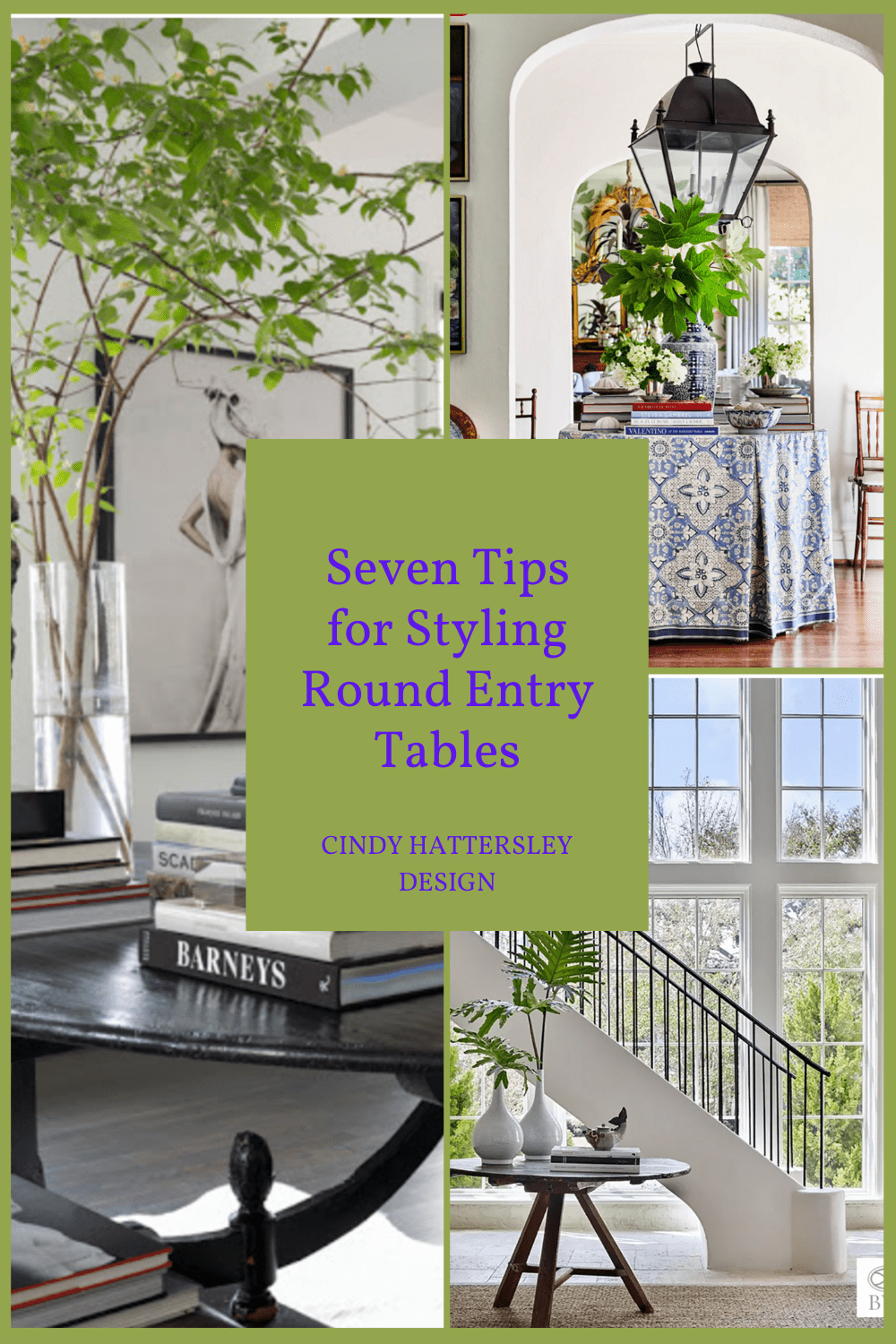 Seven Tips for Styling Round Entry Tables