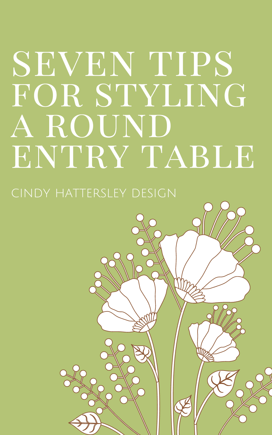 seven tips for styling a round entry table