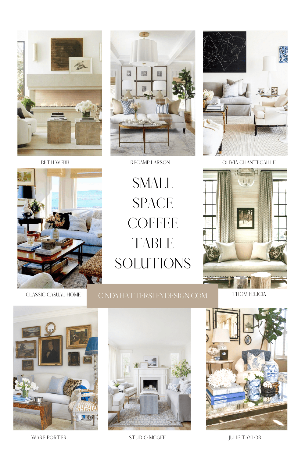 SMALL COFFEE TABLE SOLUTIONS from Cindy Hattersley