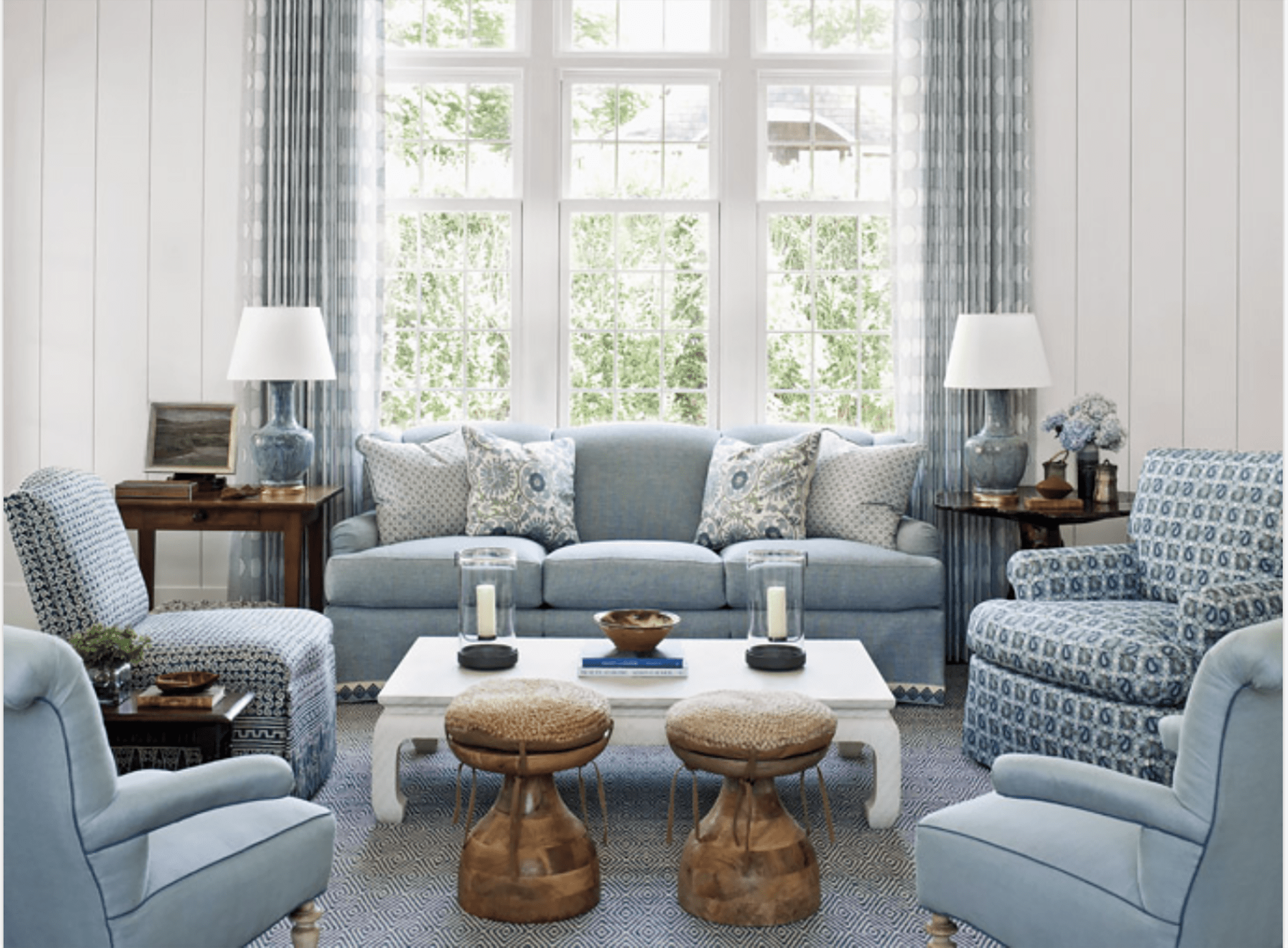 phoebe howard living space with white coffee table