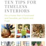 Over 55 Decor -Ten Tips for Achieving Timeless Interiors