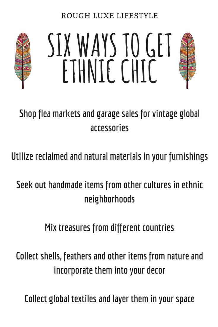 six ways to ethnic chic