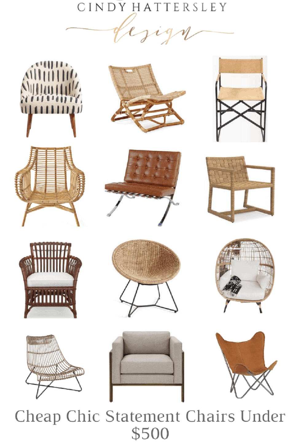 Cindy Hattersley's list of CHIC STATEMENT CHAIRS