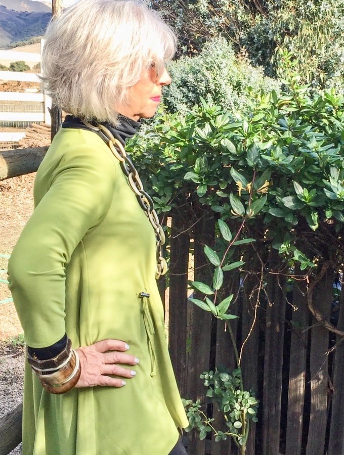 Think Green for the New Year-A Great Green Tunic and Healthy Roasted Asparagus Soup