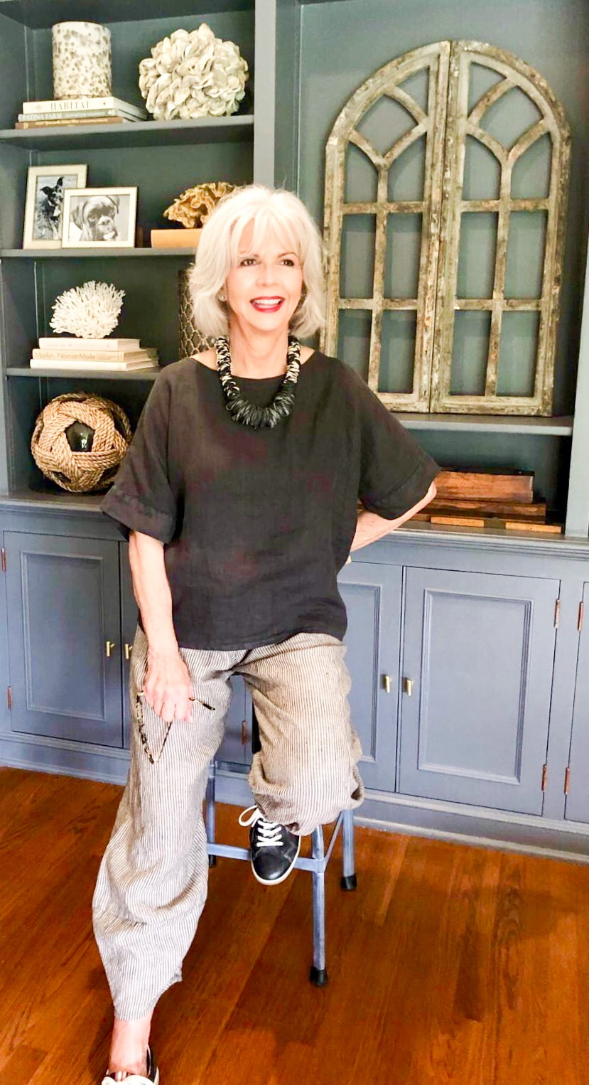 linen top and pants