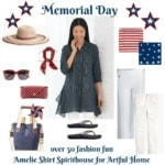 Fashion Over 50 Amelie Shirt for Artful Home and simple Memorial Day Salads