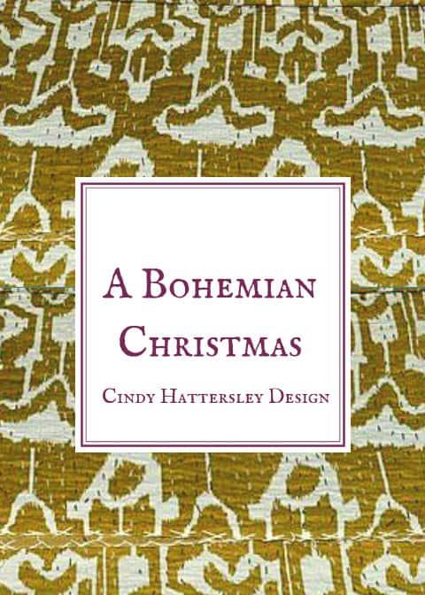 bohemian christmas sign