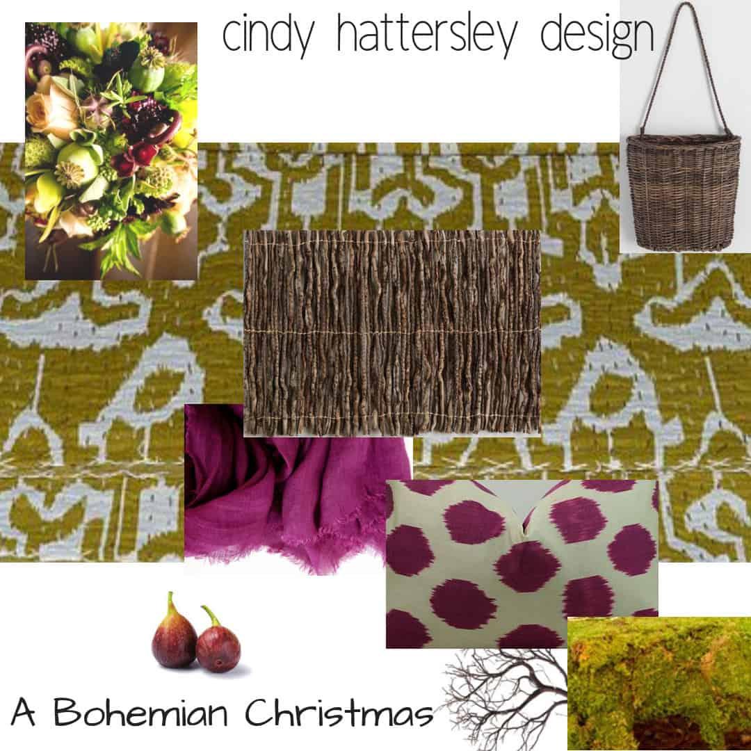 bohemian christmas inspiration board