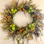 DIY Wreath from Foraged Materials and Details Direct Cashmere
