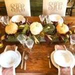 Organic Fall Tablescape