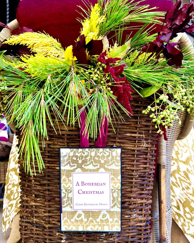bohemian christmas table