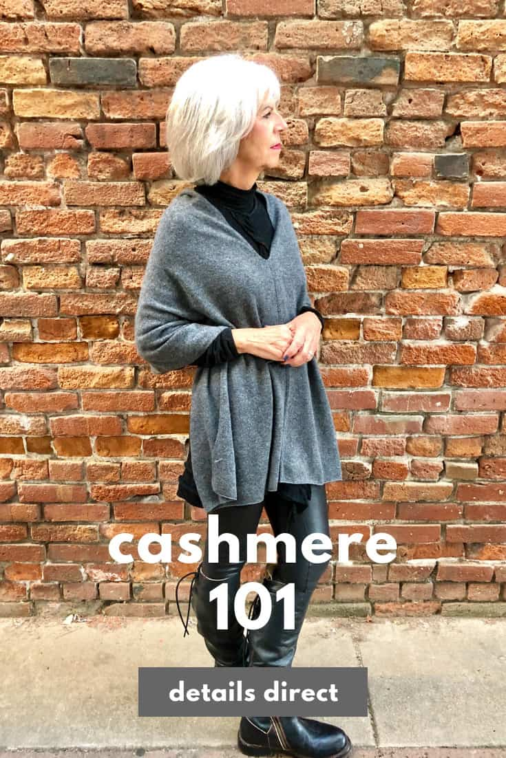 cashmere charcoal poncho