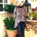 Over 50 Holiday Fashion-Lisa Bayne Oleana Velvet Topper