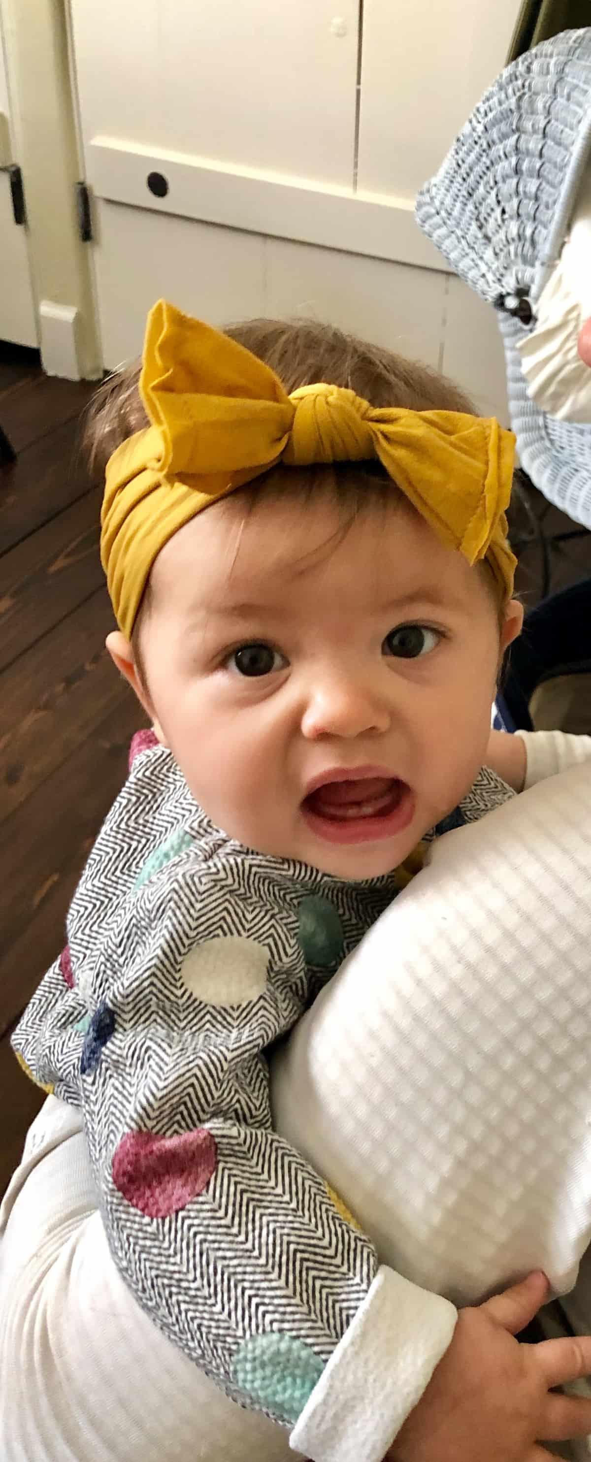 baby summer in mustard headband