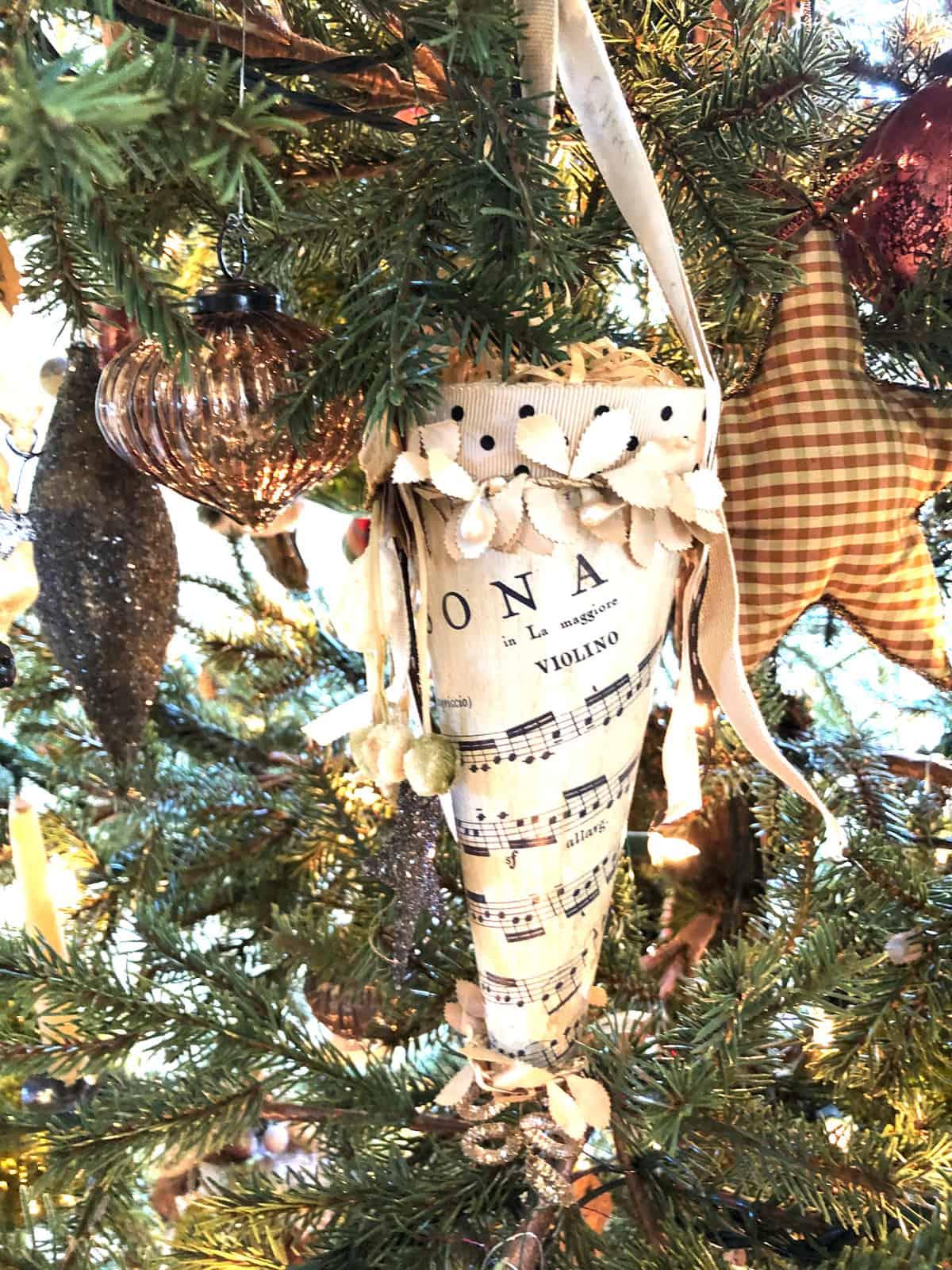 christmas cone ornament