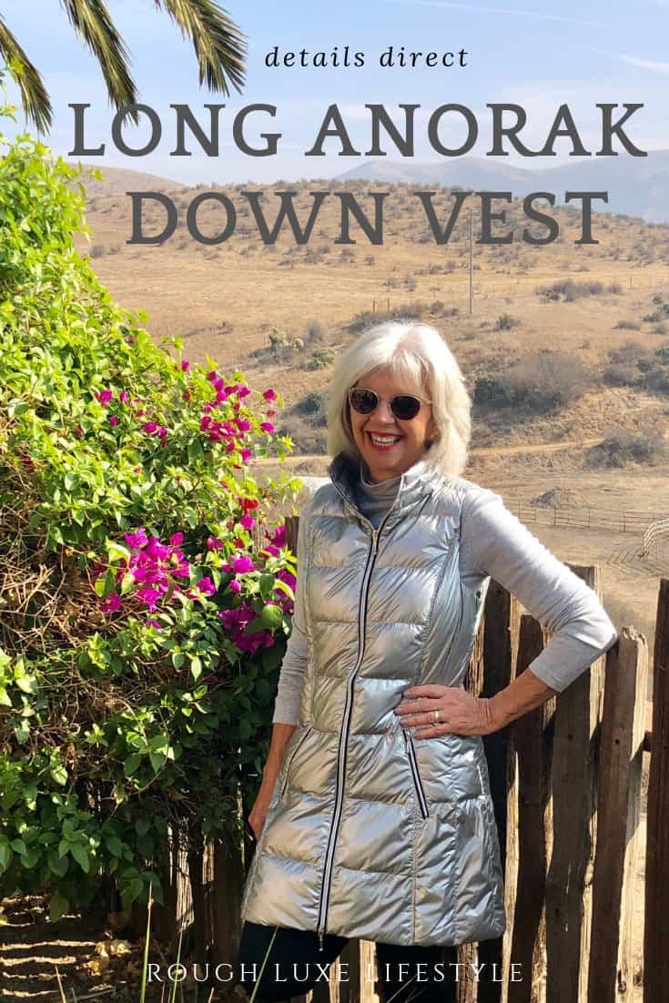 fashion over 50 long anorak vest