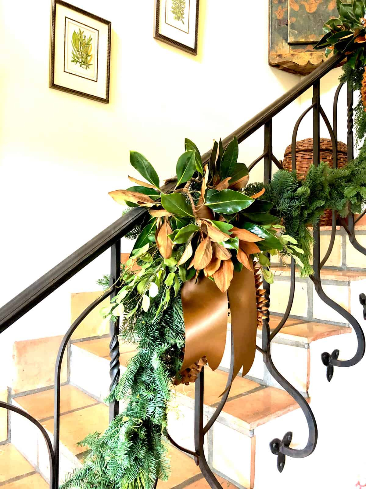 christmas home tour with decorations inspired by nature