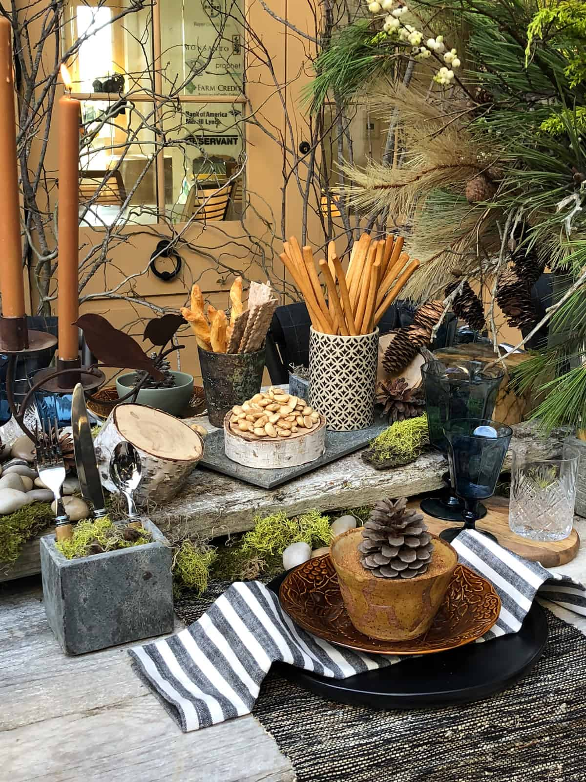 farmhouse tablescape
