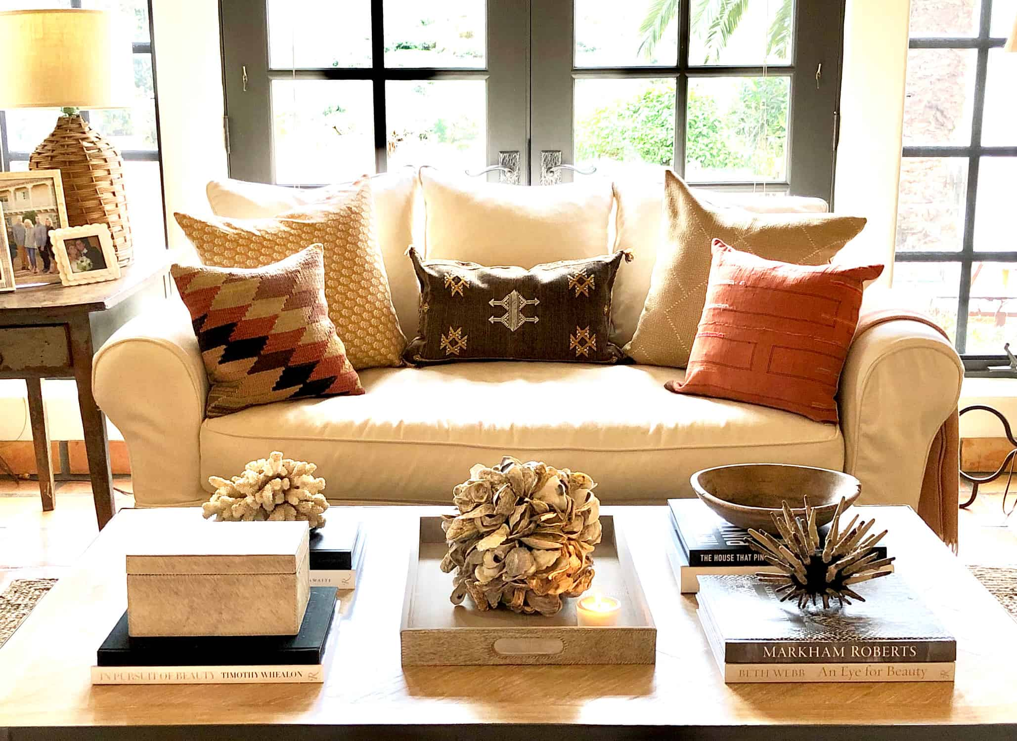neutral coffee table