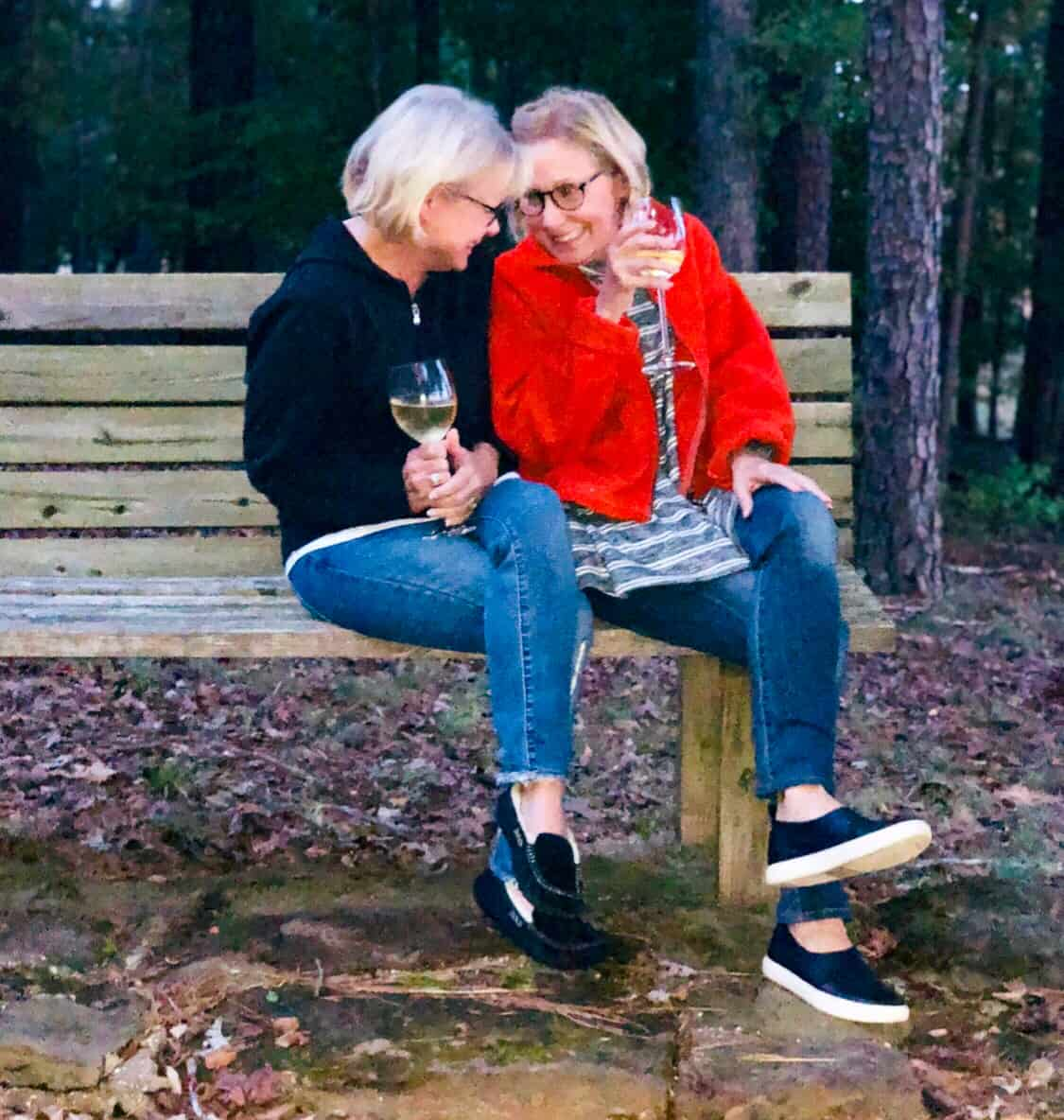 two women in park ageless style