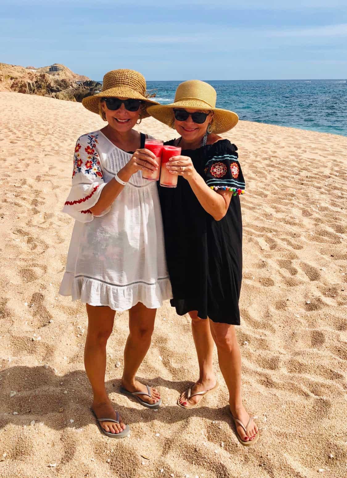 mona and talena on vacation