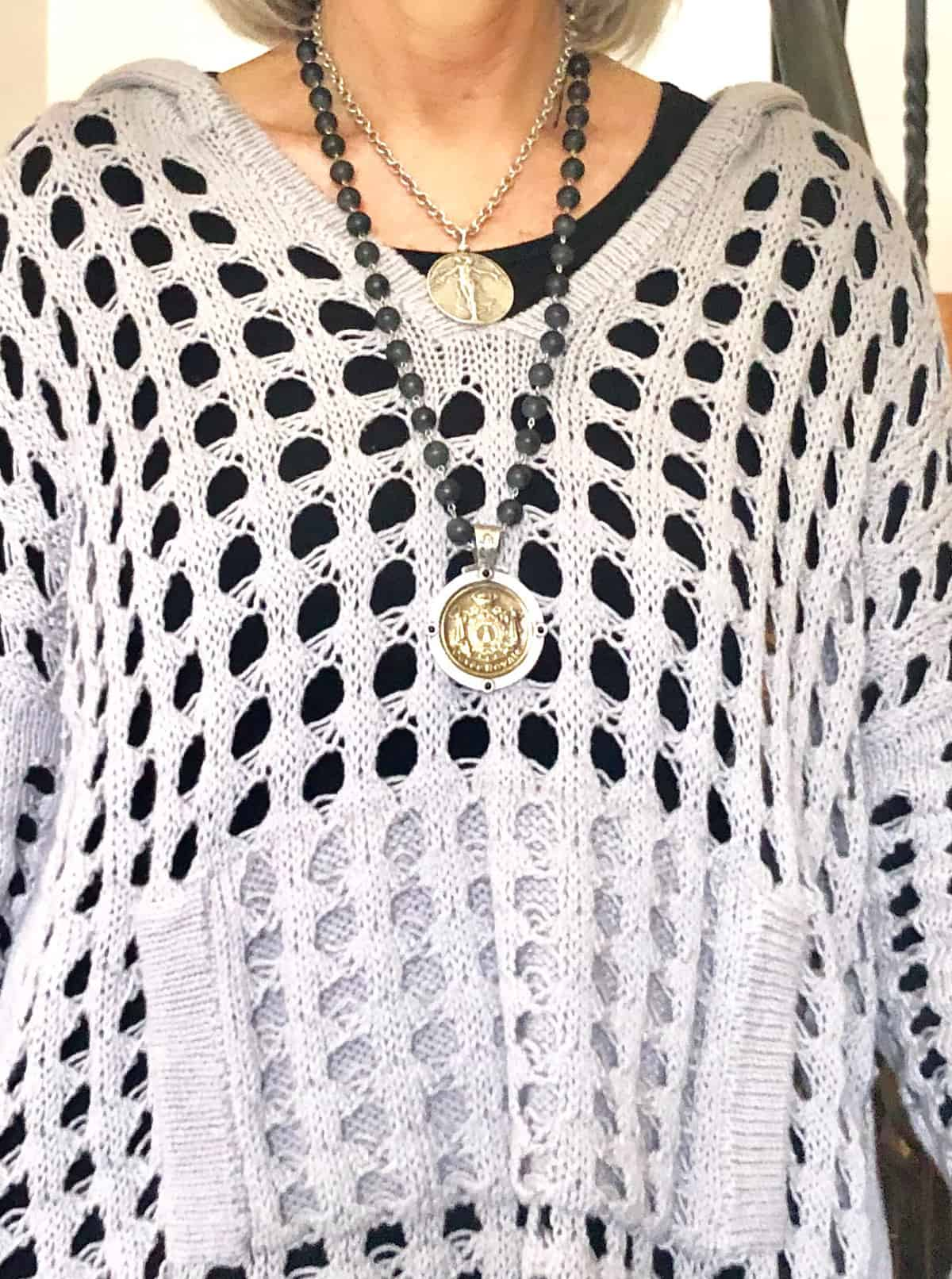 french kande necklaces and planet crochet hoodie