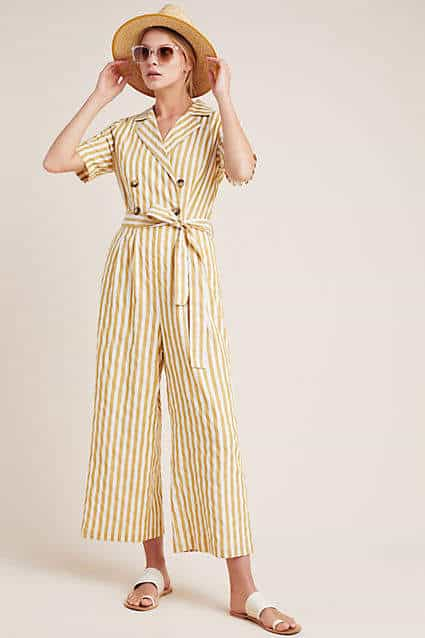 stripe jumpsuit from Anthropologie