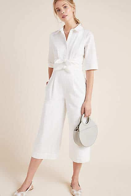 white poplin jumpsuit