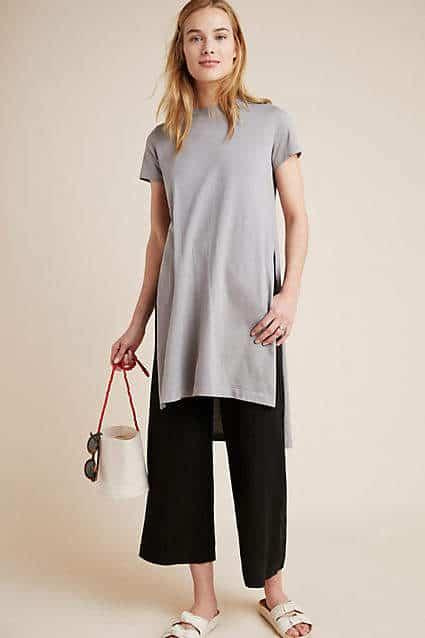 gray short sleeve tunic
