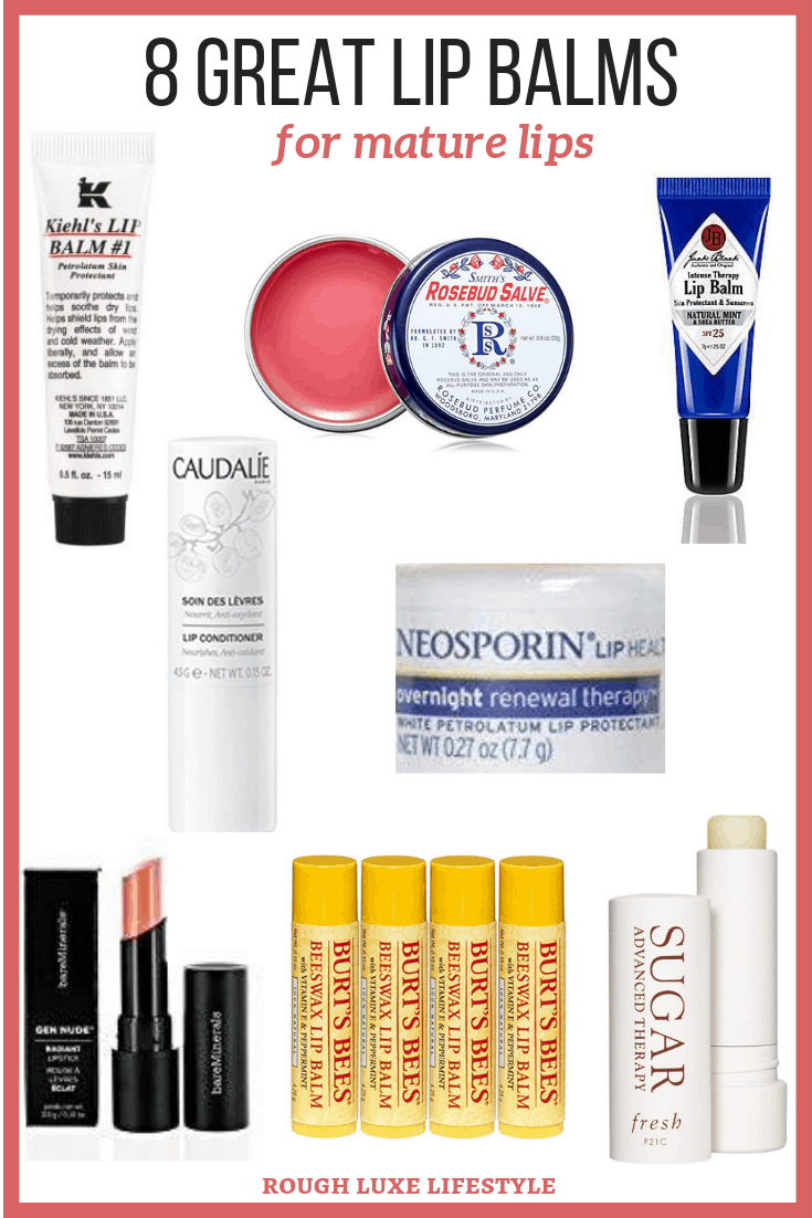 8 great lip balms for mature lips