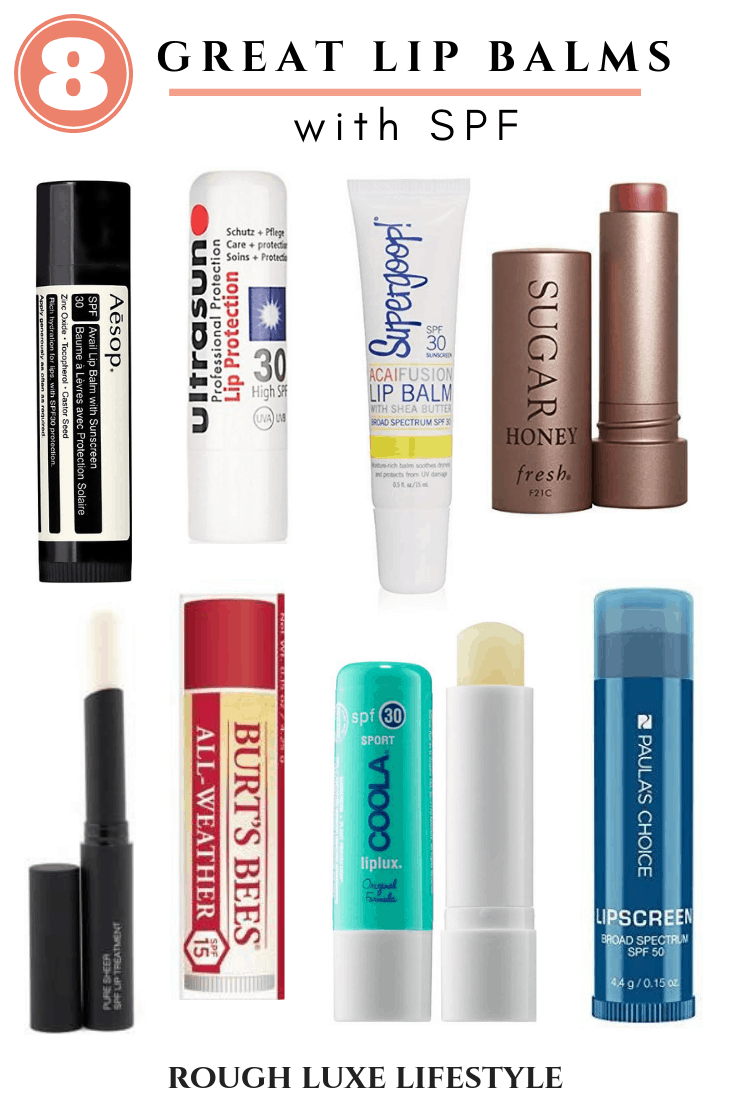 8 great lip balms with spf