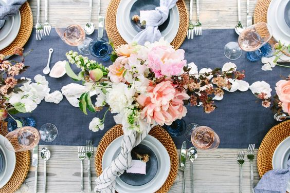 crate and barrel spring tablescape