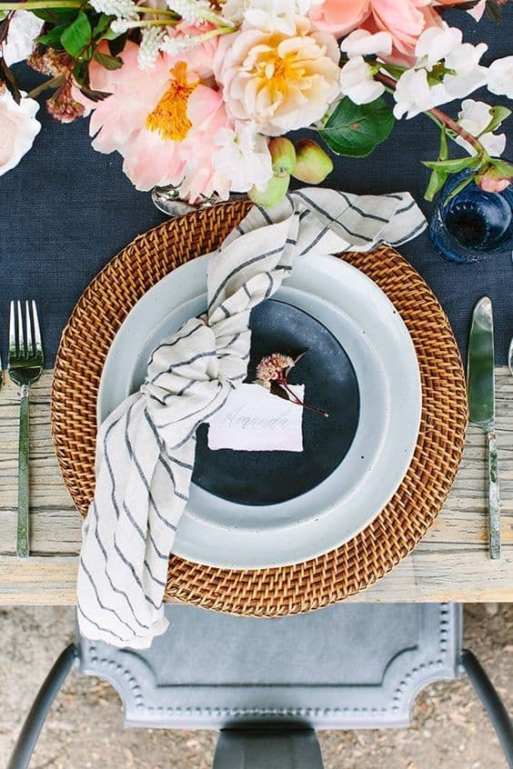 crate and barrel tablescape