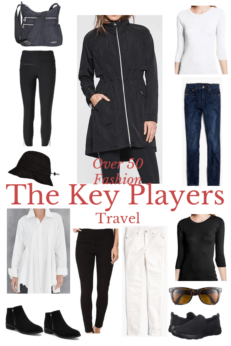 Over 50 Travel Wardrobe the Key Players