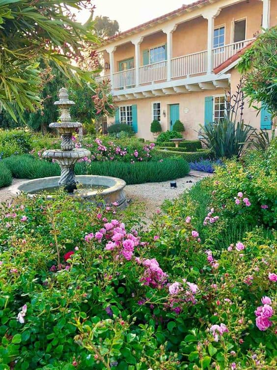 spanish colonial house and garden