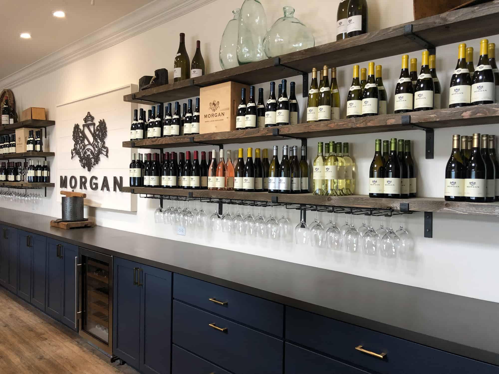 morgan winerys modern fresh tasting room