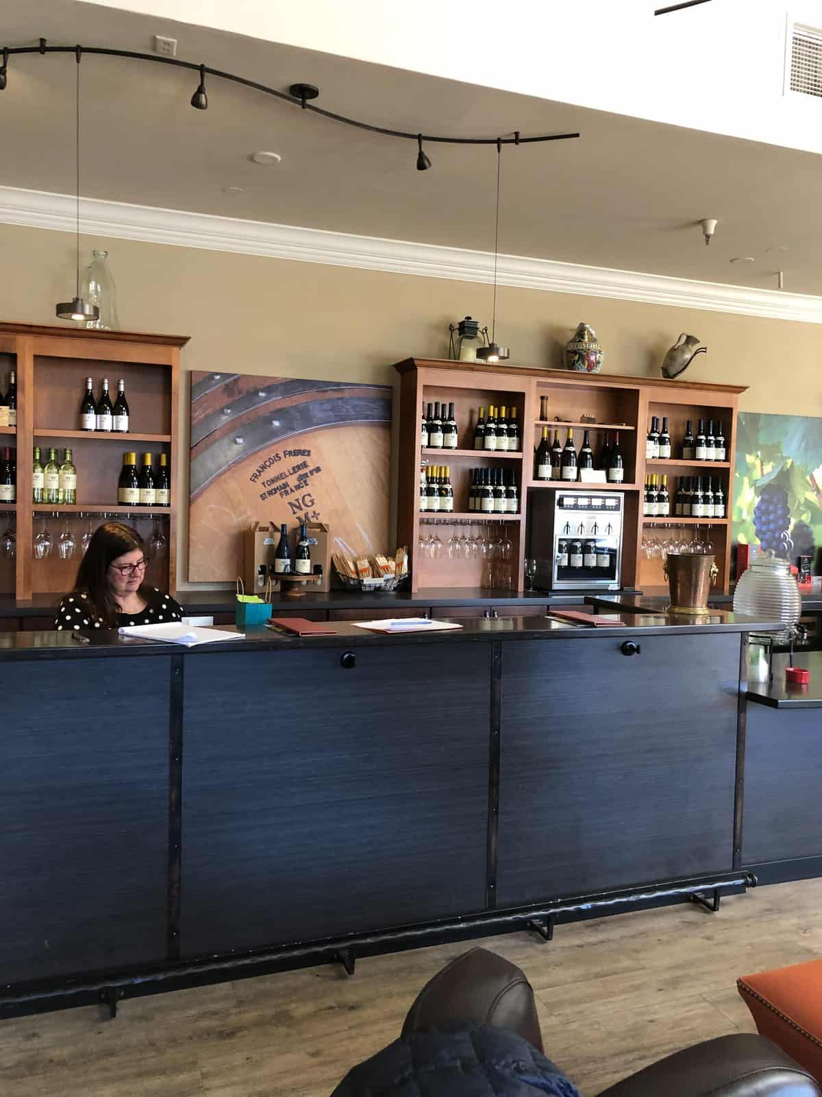 morgan tasting room bar before remodel
