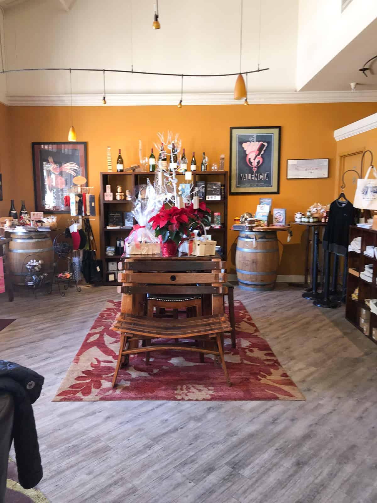 morgan winery tasting room before