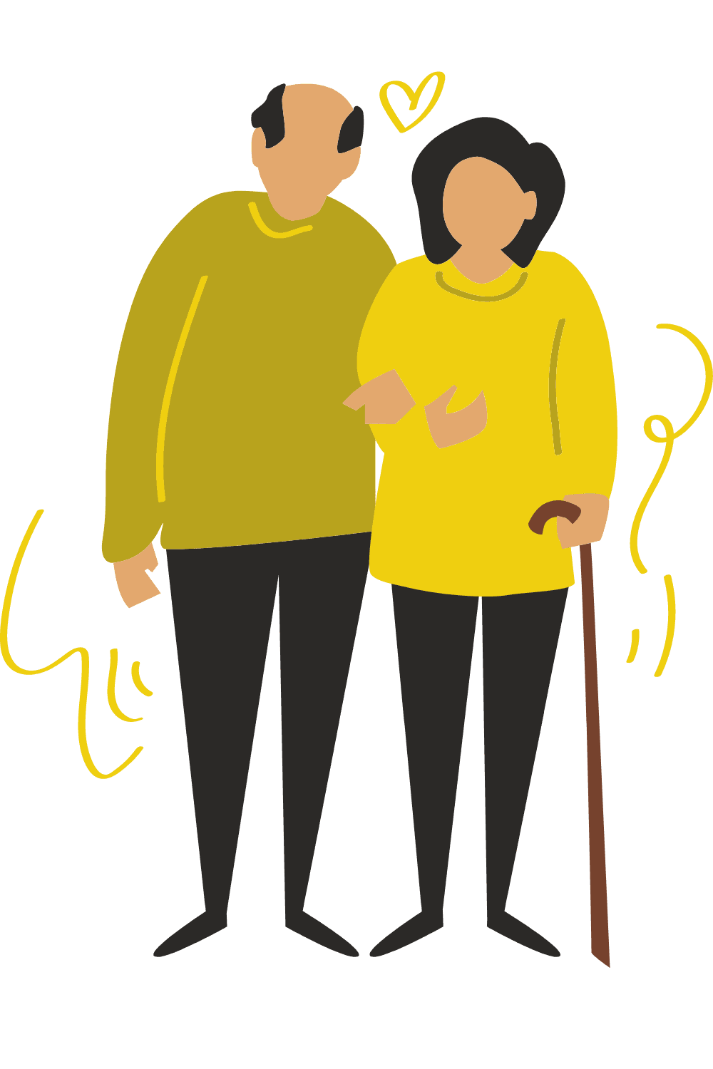 old couple graphic