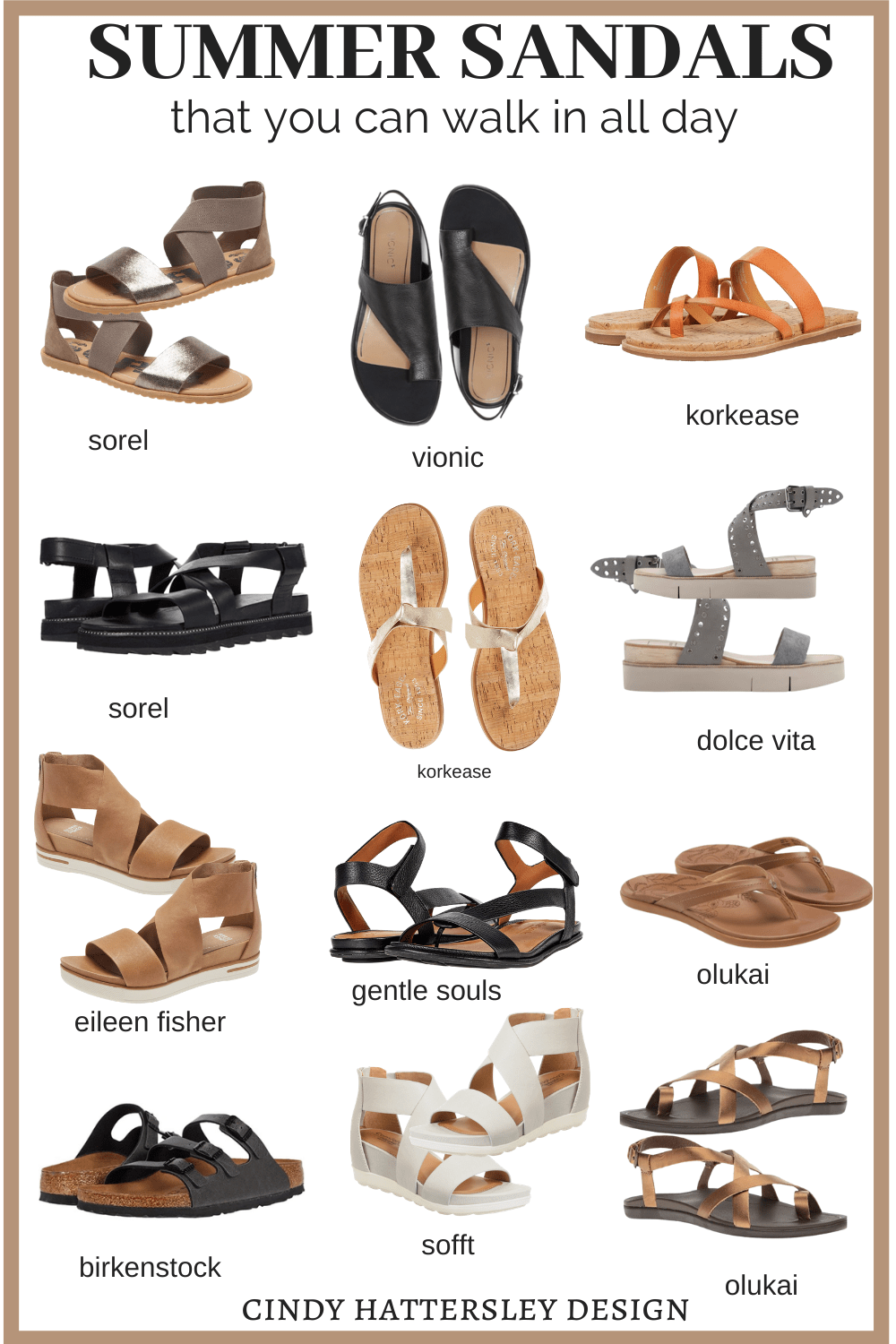 Summer Sandals you Can Walk in All Day