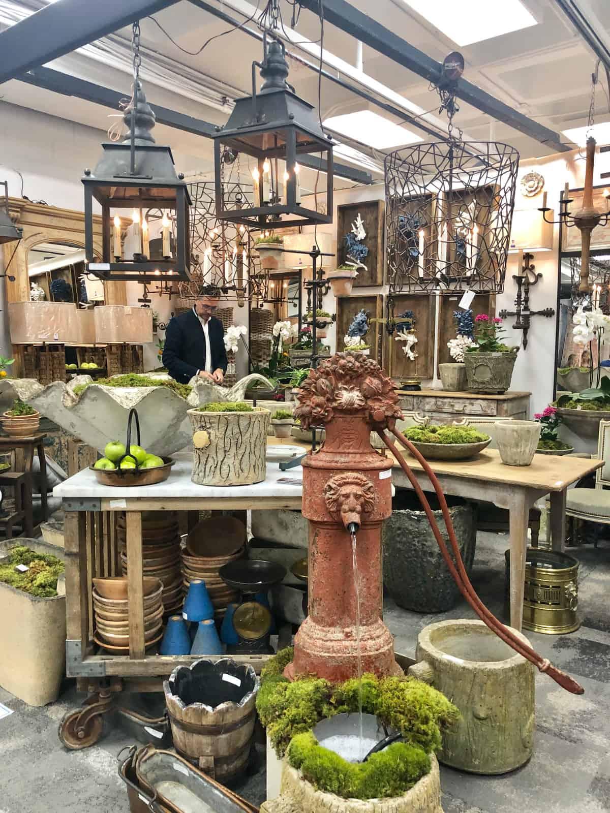 repurposed antique lighting