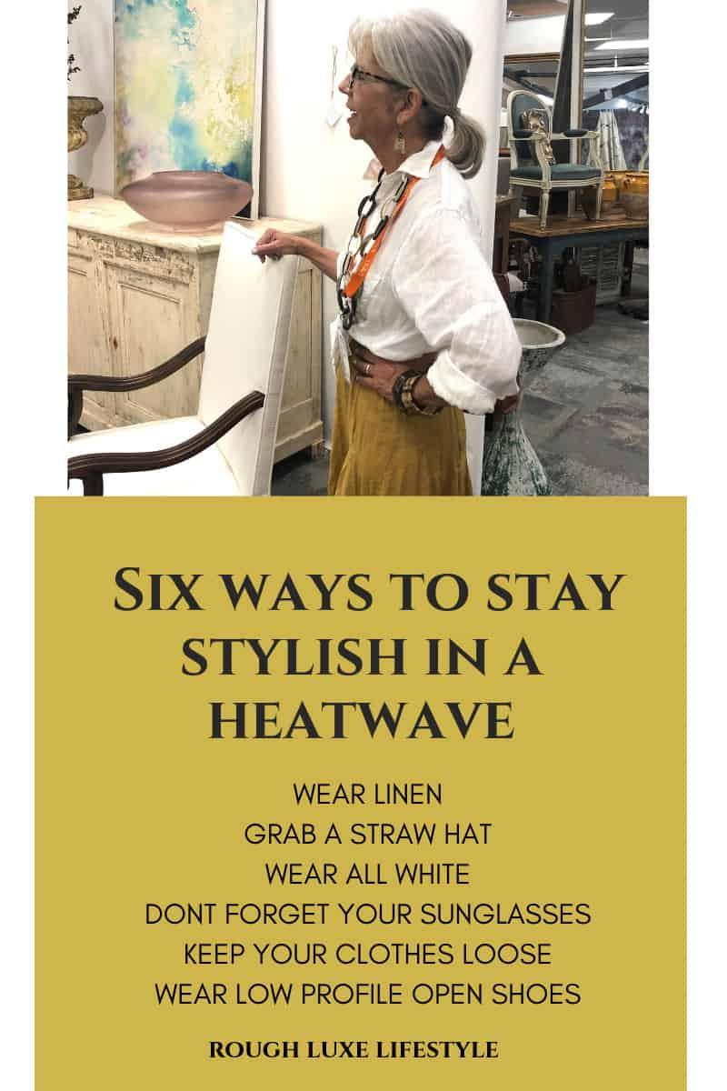 six ways to stay stylish in a heatwave