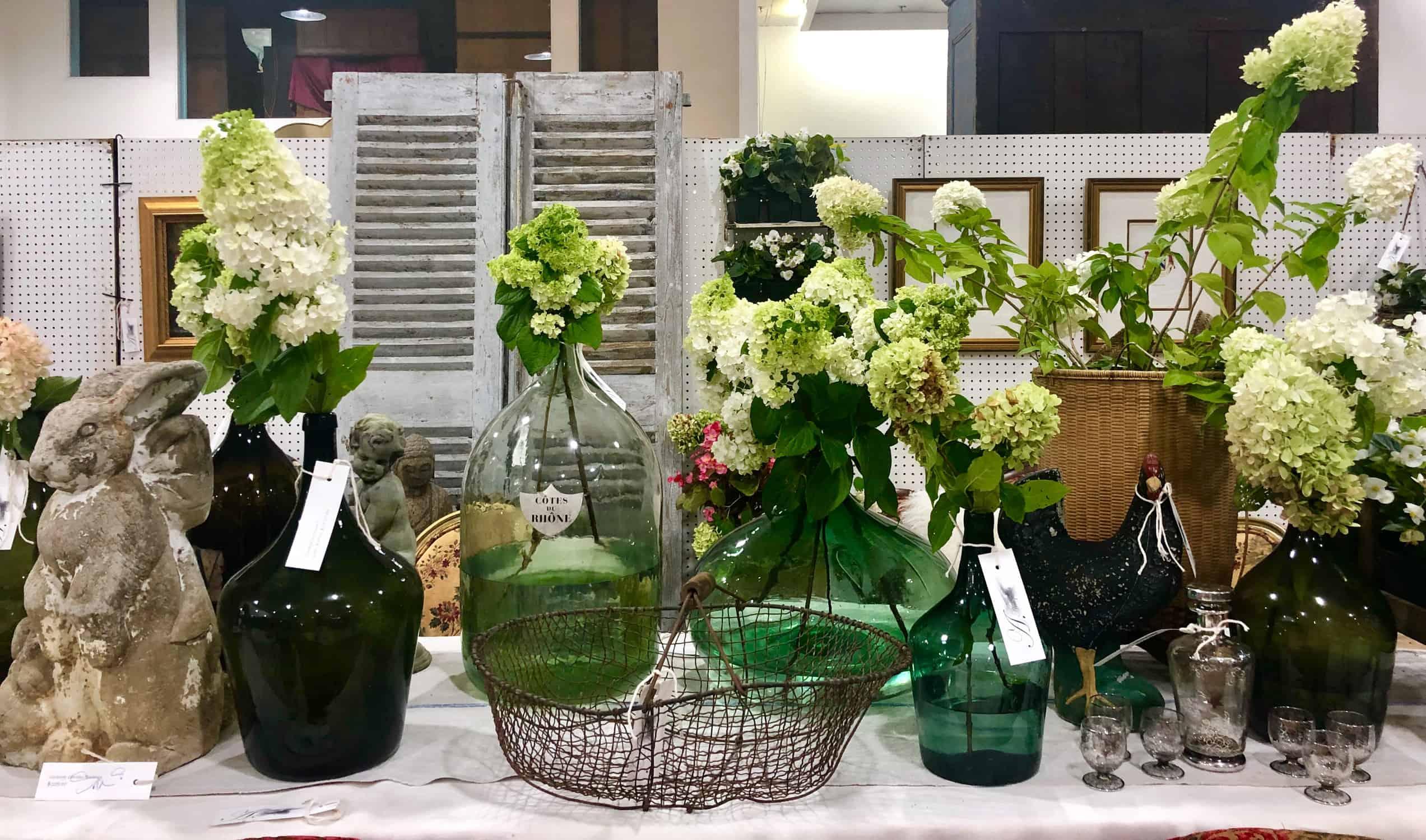 scotts antiques vintage wine bottle arrangement