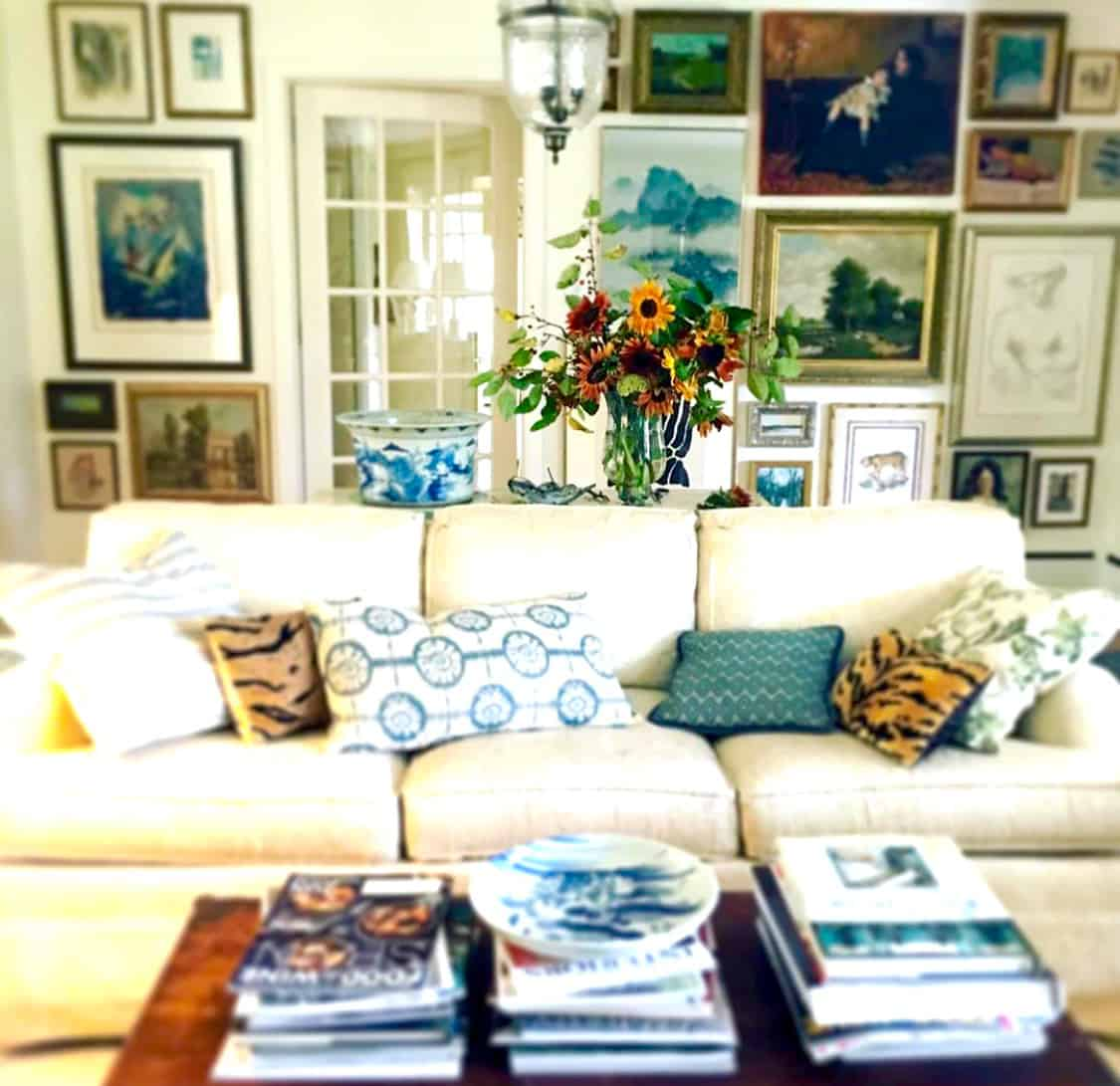 beautifully collected living room