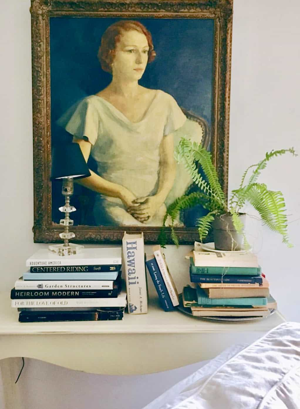 vignette with vintage painting