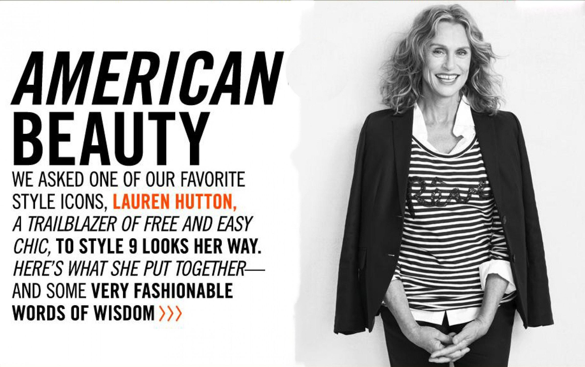 lauren hutton american beauty for j crew