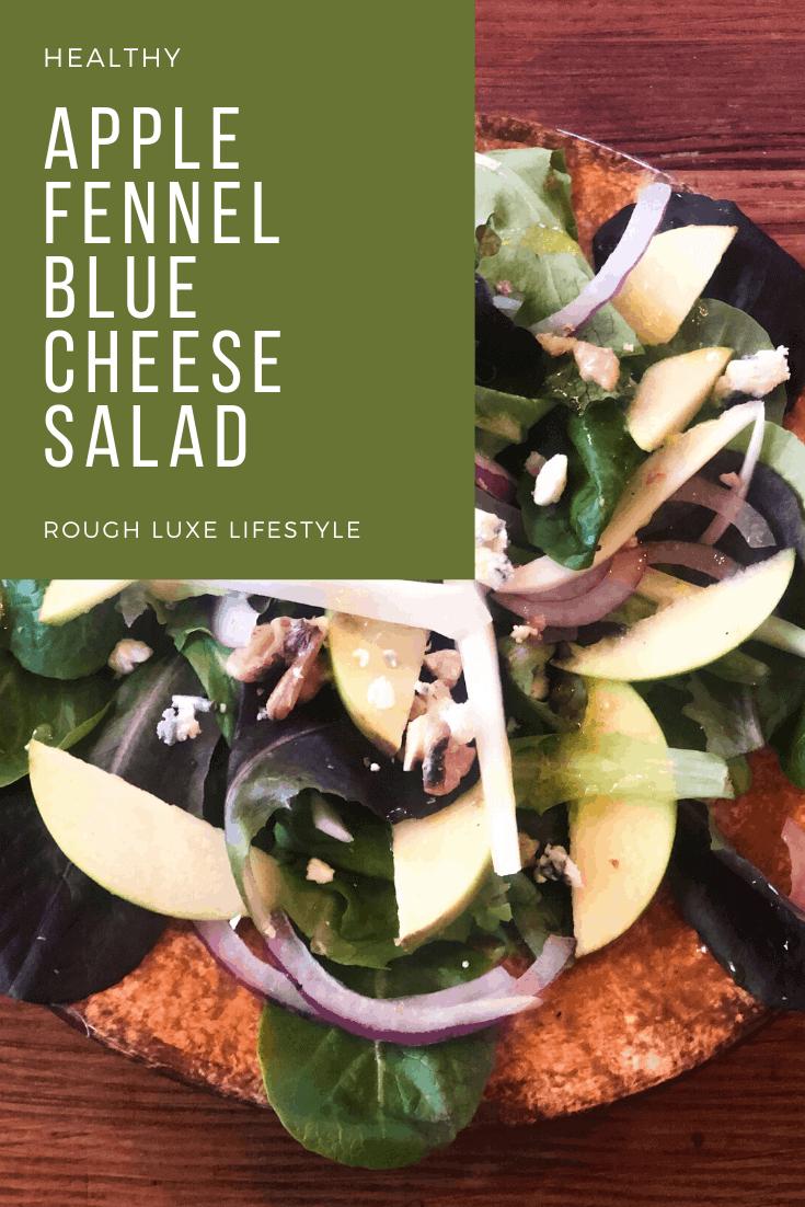 _Apple fennel blue cheese salad