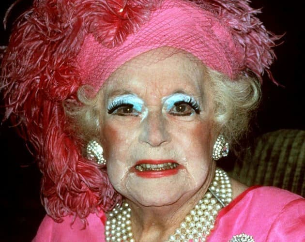 older lady with too much makeup